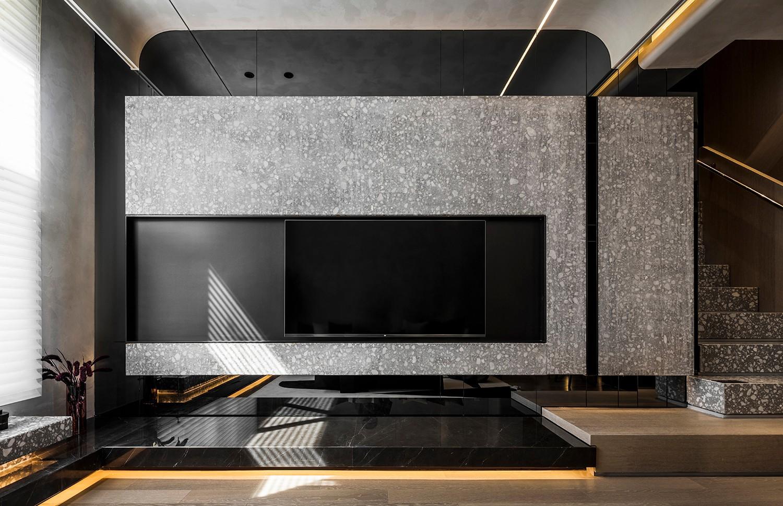 贵阳别墅电视背景墙设计