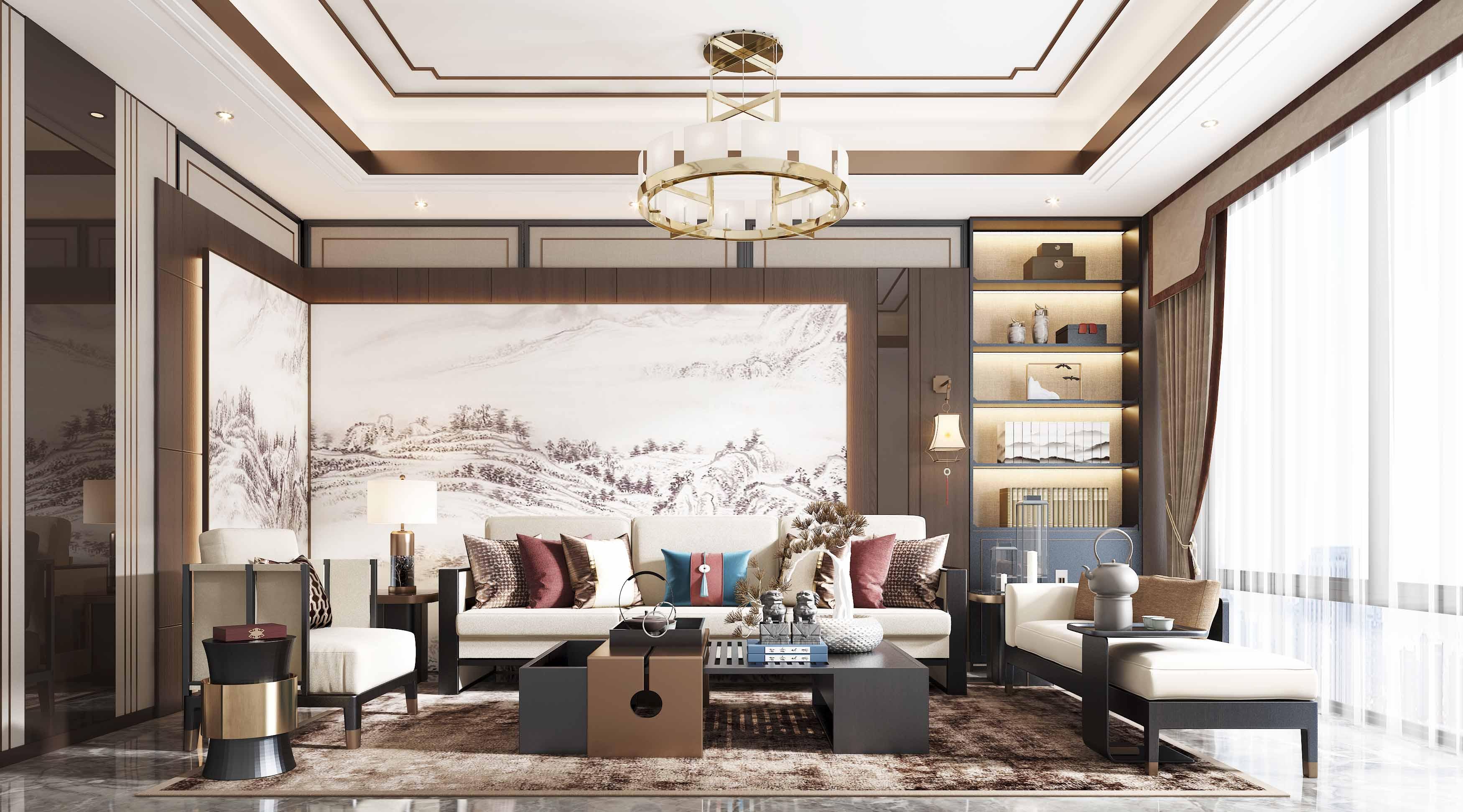 贵阳新中式别墅装饰