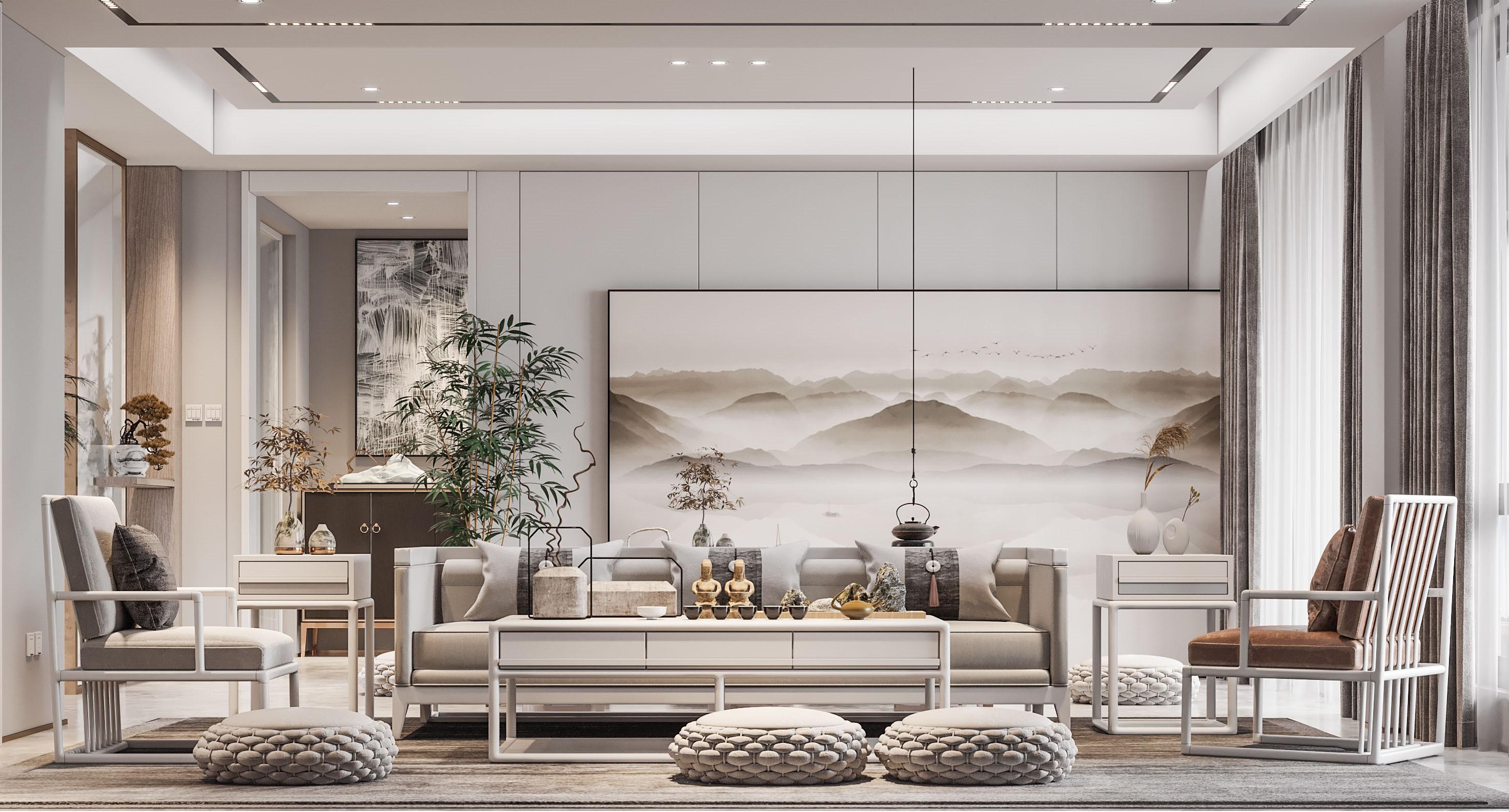 新中式别墅装饰