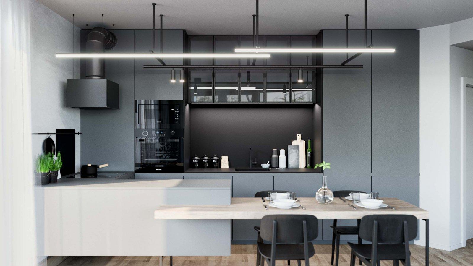 贵阳别墅开放式厨房装饰设计
